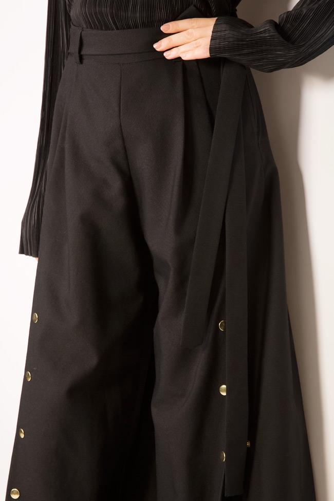 Cropped wool wide-leg pants Izabela Mandoiu image 3