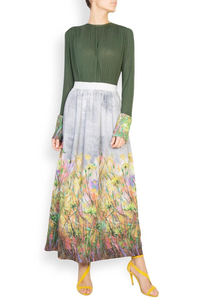 Floral-print wool maxi dress Izabela Mandoiu image 0