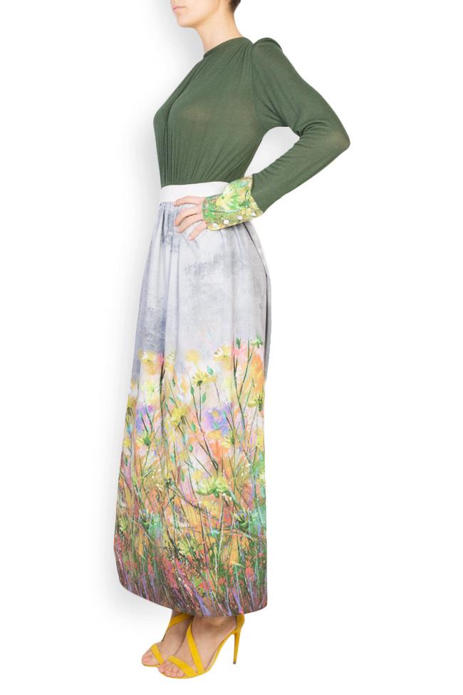 Floral-print wool maxi dress Izabela Mandoiu image 1