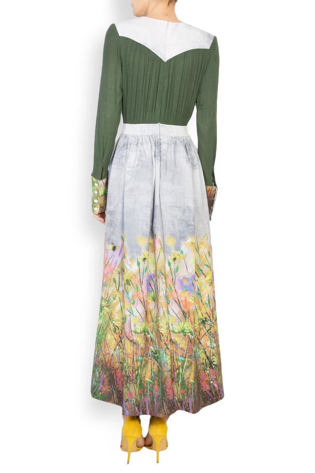 Floral-print wool maxi dress Izabela Mandoiu image 2