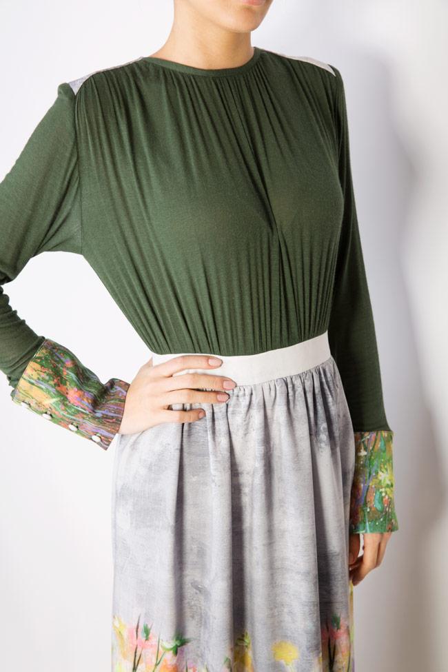 Floral-print wool maxi dress Izabela Mandoiu image 3