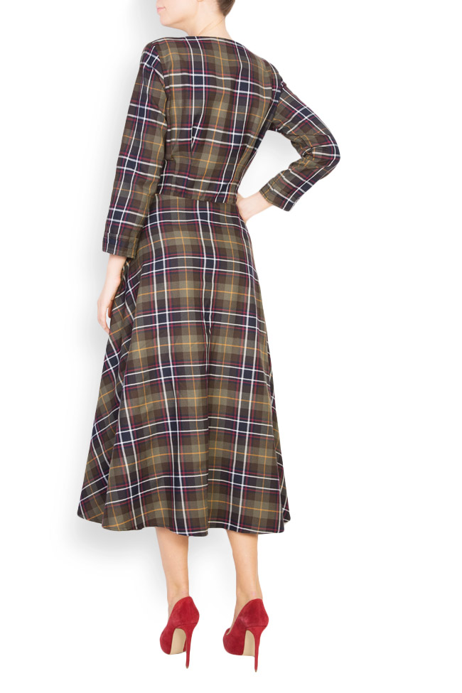 Checked button-embellished wool dress Izabela Mandoiu image 2