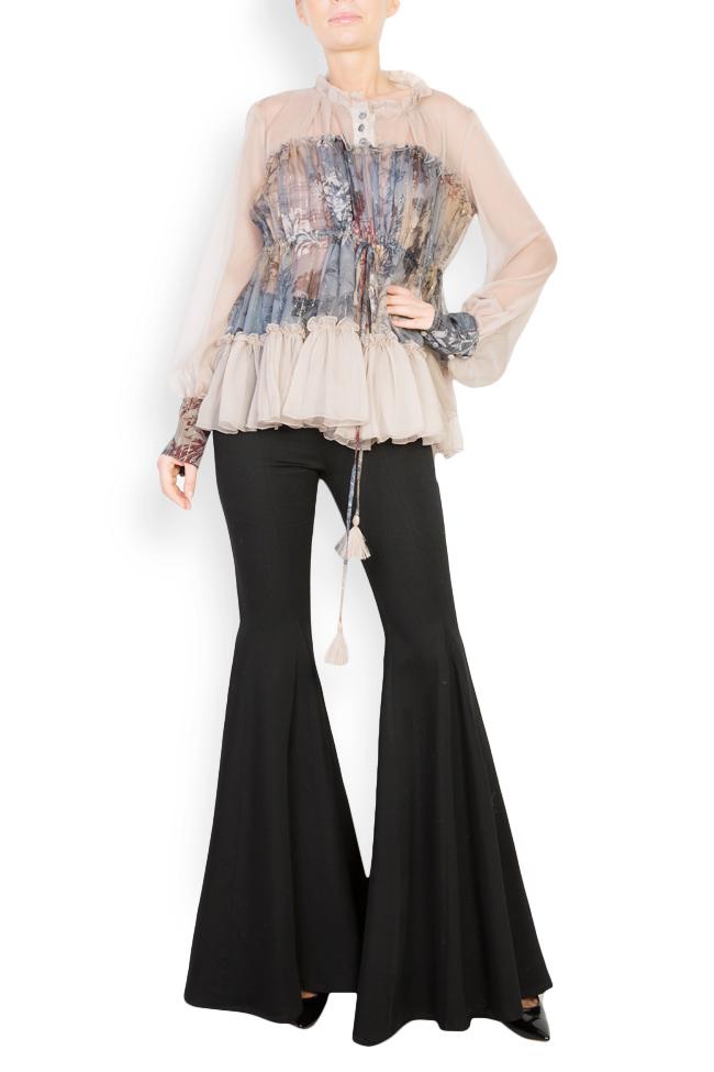Printed silk blouse  Izabela Mandoiu image 0