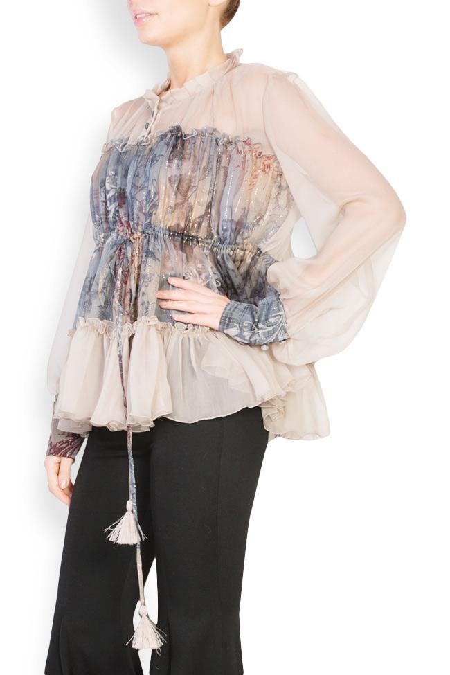 Printed silk blouse  Izabela Mandoiu image 1