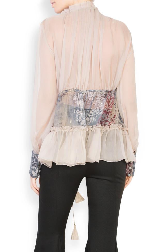 Printed silk blouse  Izabela Mandoiu image 2