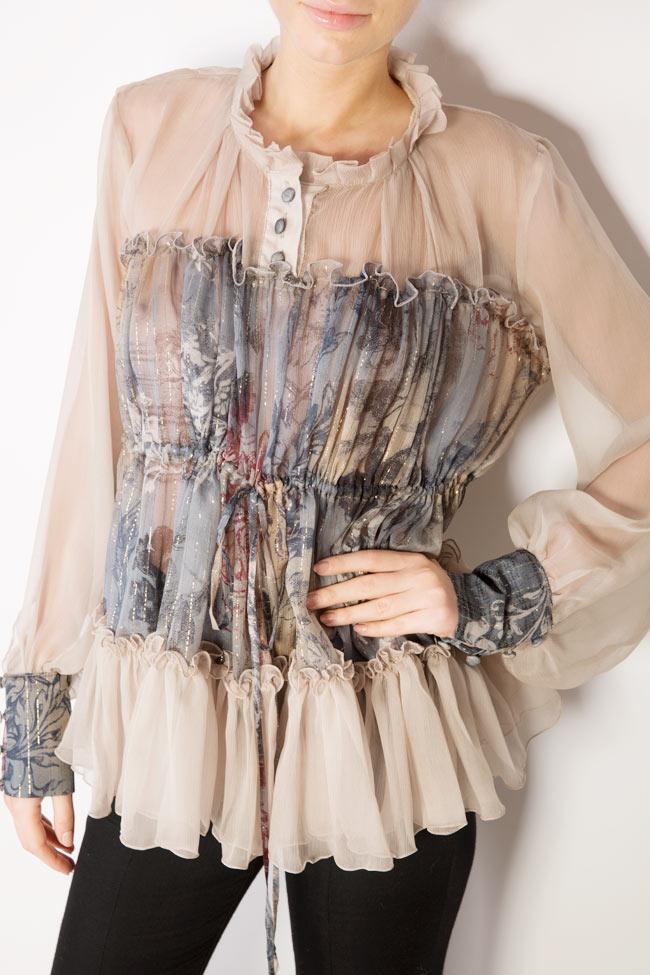 Printed silk blouse  Izabela Mandoiu image 3