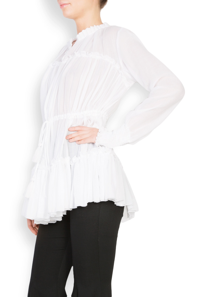 Bluza tip ie din bumbac Izabela Mandoiu imagine 1