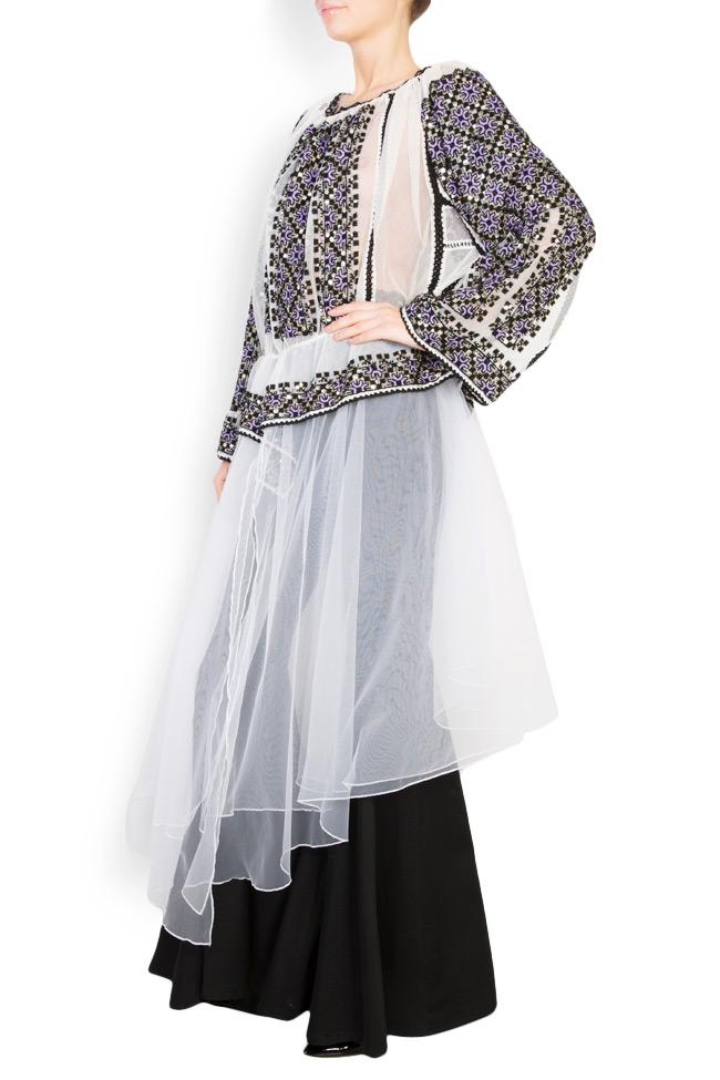 Tulle-embellished handmade blouse Izabela Mandoiu image 1