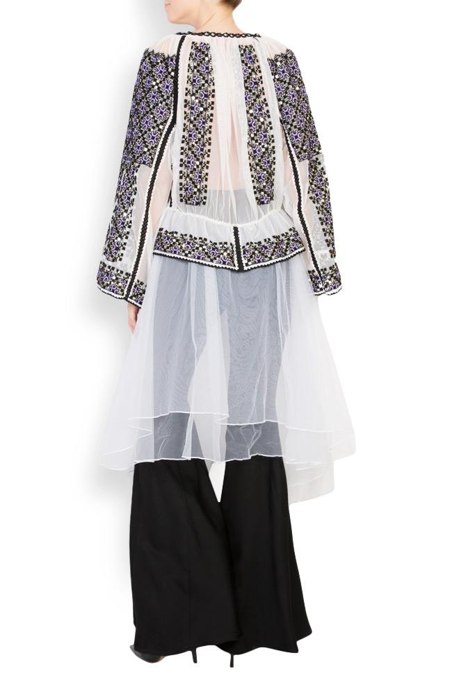Tulle-embellished handmade blouse Izabela Mandoiu image 2