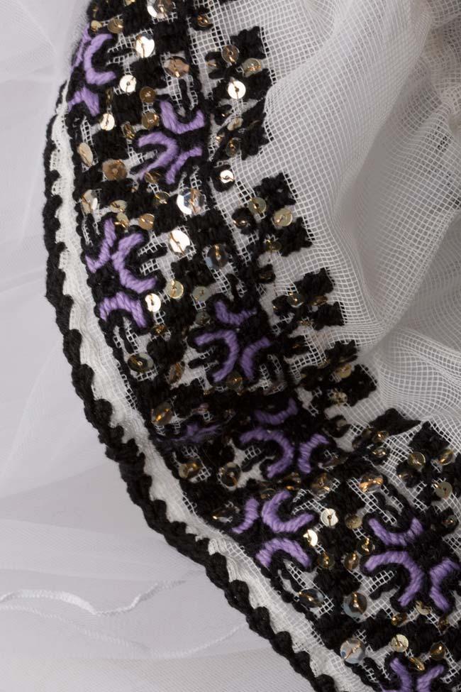 Tulle-embellished handmade blouse Izabela Mandoiu image 4