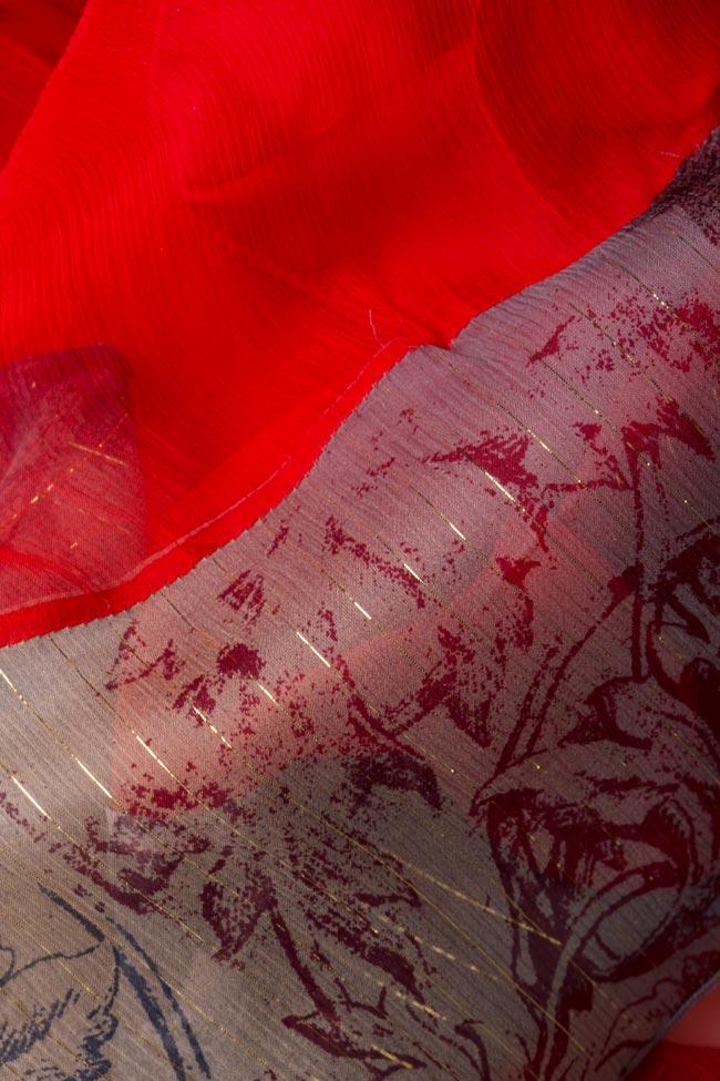 Jupe midi en soie avec bord imprimé Izabela Mandoiu image 4