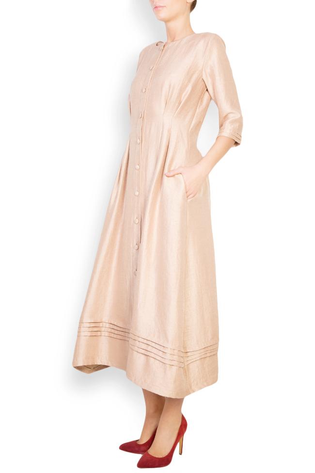 Button-embellished wool-blend midi dress Izabela Mandoiu image 1