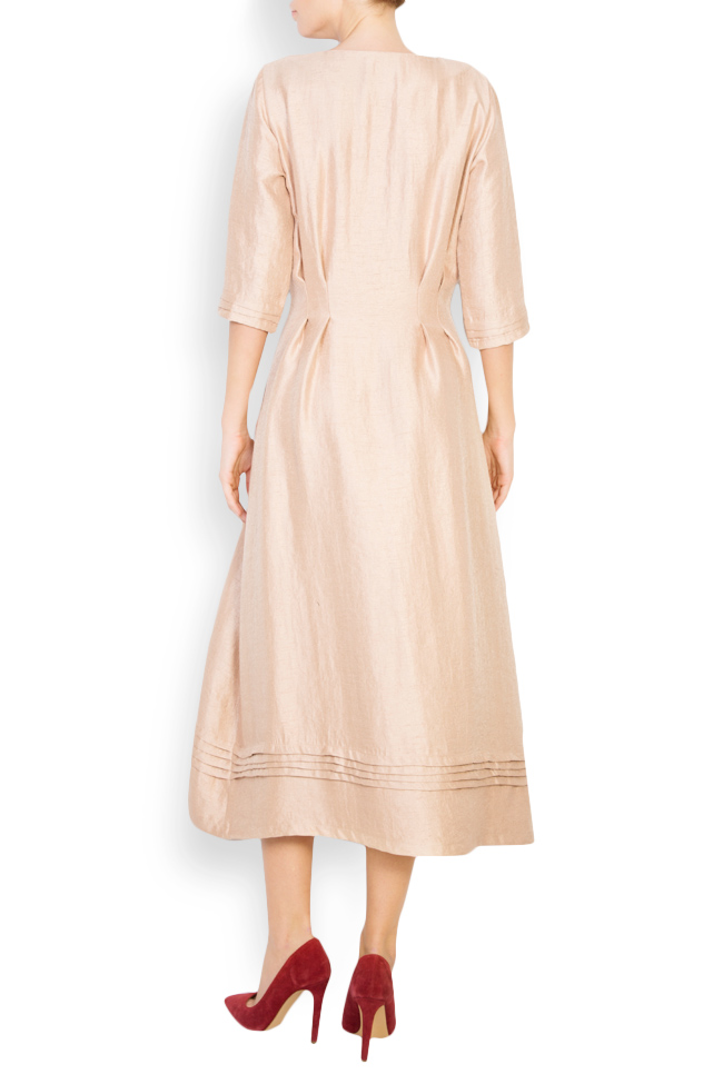 Button-embellished wool-blend midi dress Izabela Mandoiu image 2