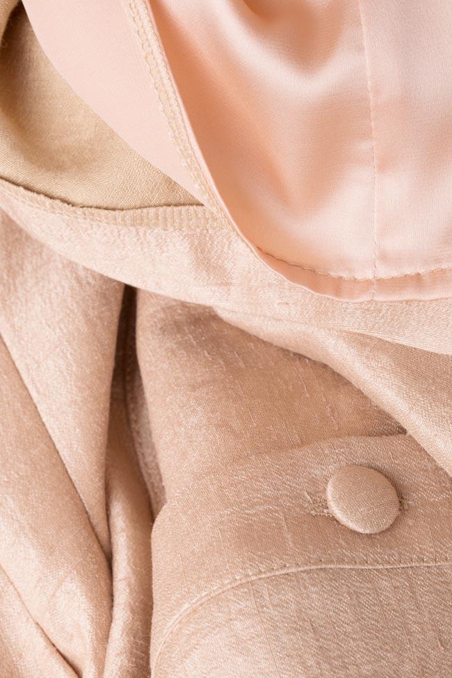 Rochie din amestec de lana cu nasturi pe mijloc Izabela Mandoiu imagine 4