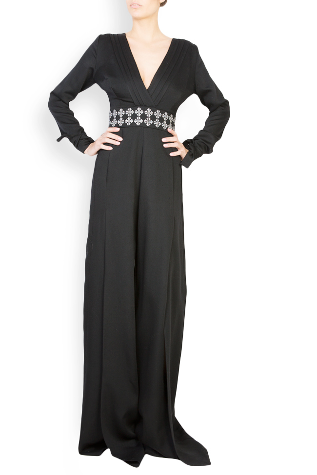 Embroidered wool jumpsuit Izabela Mandoiu image 0