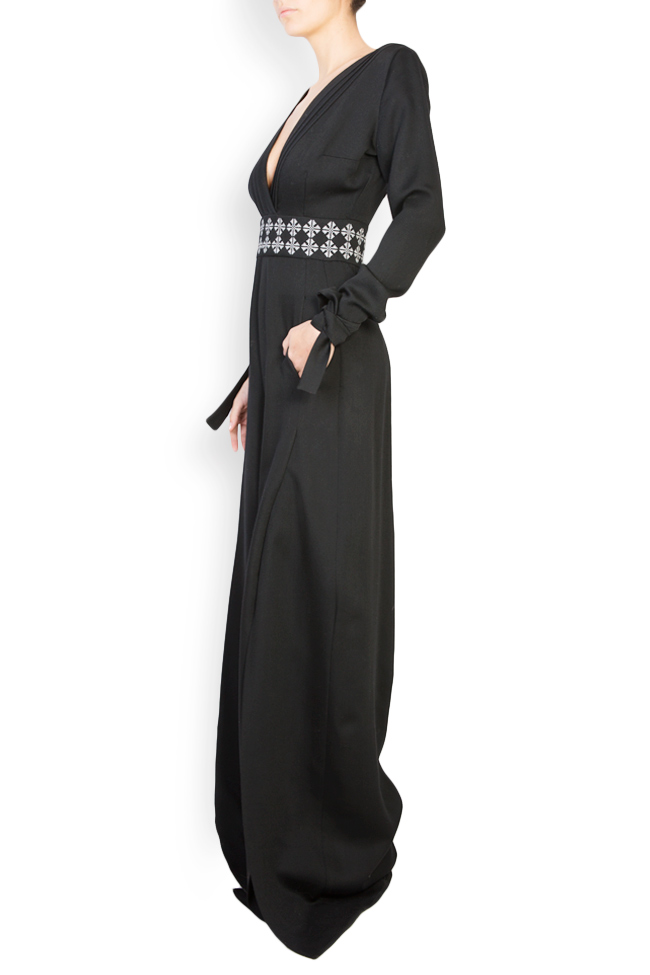 Embroidered wool jumpsuit Izabela Mandoiu image 1