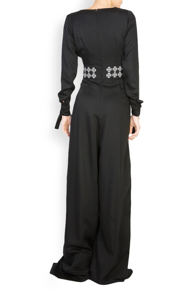 Embroidered wool jumpsuit Izabela Mandoiu image 2
