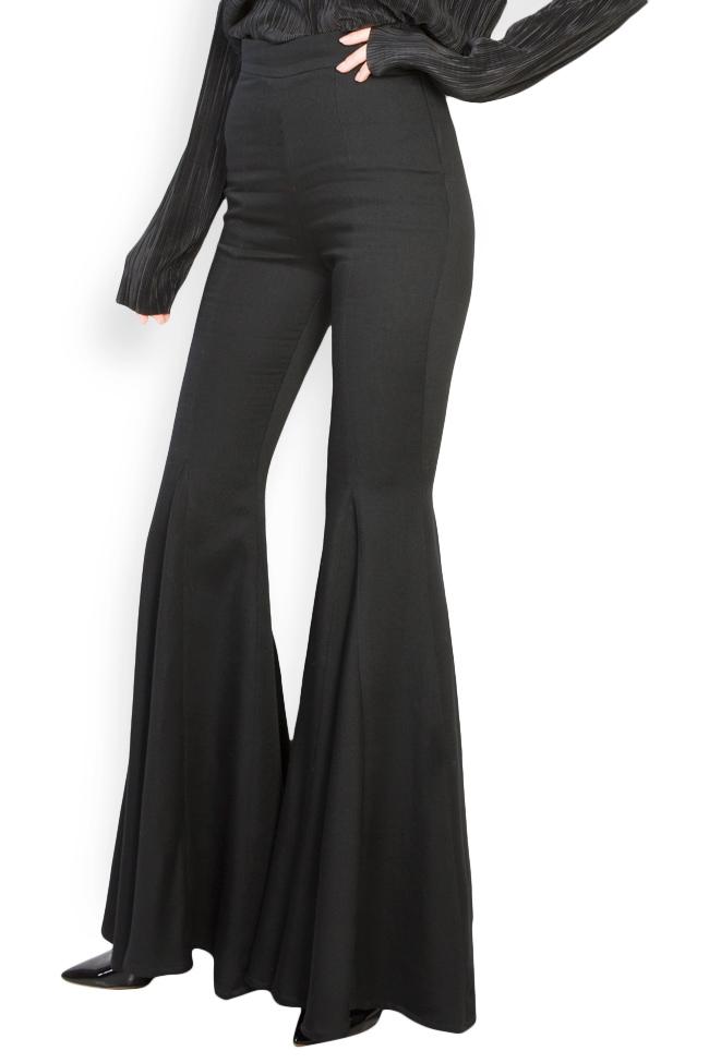Pantalon évasé en laine Izabela Mandoiu image 1