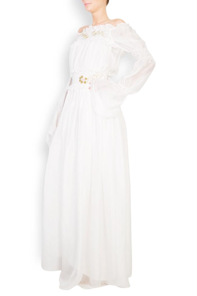 Embroidered off-the-shoulder silk maxi dress Izabela Mandoiu image 1