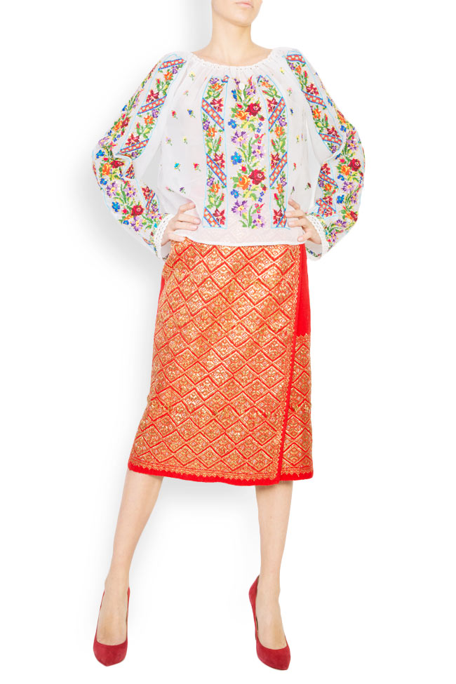 Multicolored embroidered blouse Izabela Mandoiu image 0