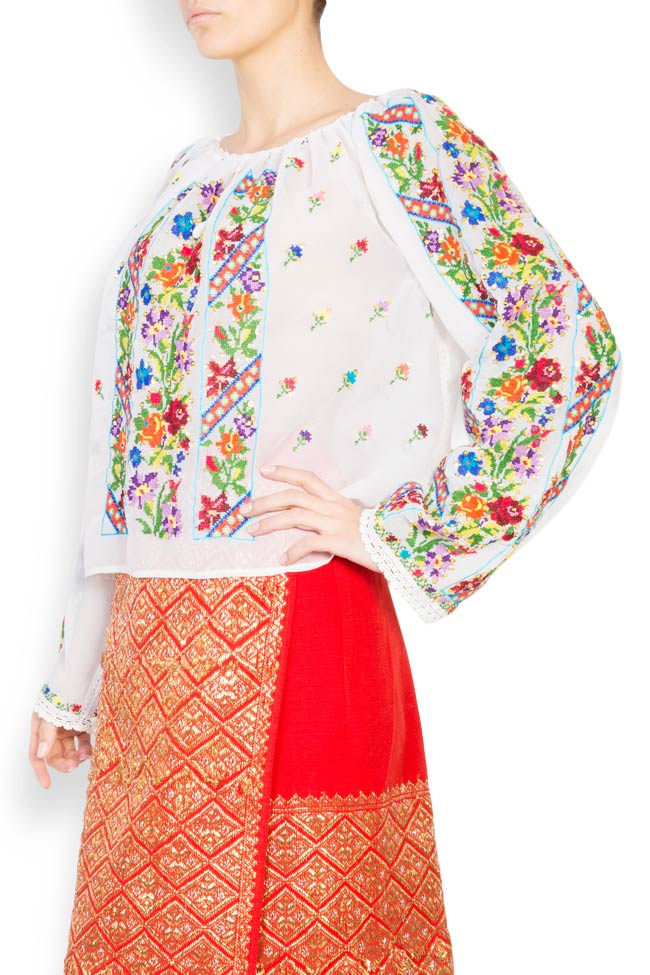 Multicolored embroidered blouse Izabela Mandoiu image 1