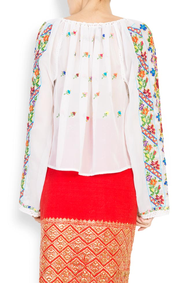 Multicolored embroidered blouse Izabela Mandoiu image 2