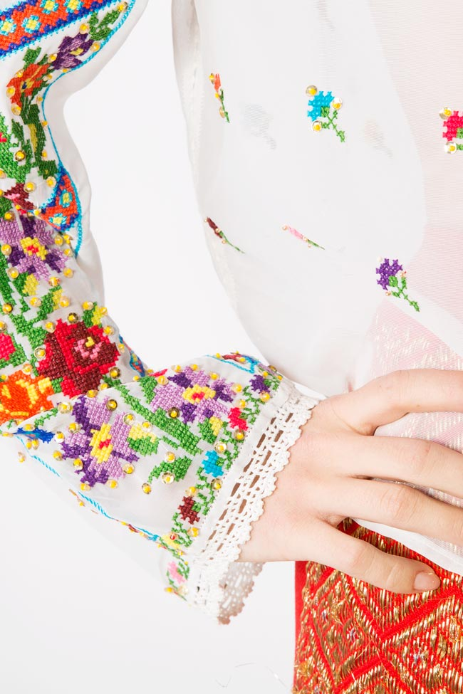 Multicolored embroidered blouse Izabela Mandoiu image 4