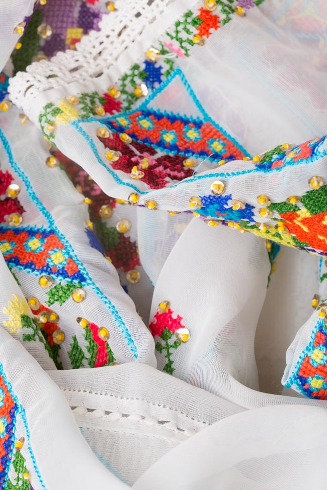Multicolored embroidered blouse Izabela Mandoiu image 5