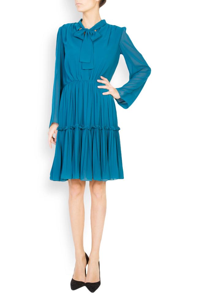Naty bow-embellished georgette mini dress Maia Ratiu image 0