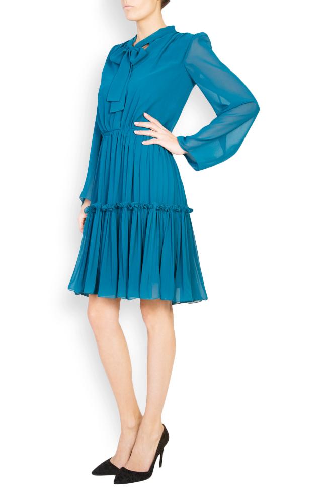 Naty bow-embellished georgette mini dress Maia Ratiu image 1