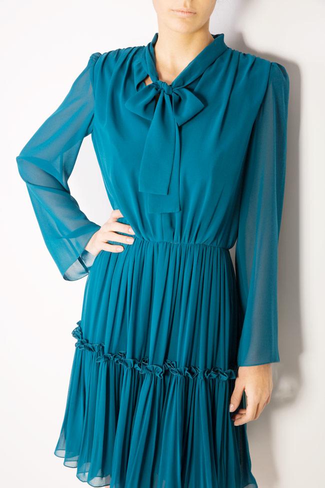 Naty bow-embellished georgette mini dress Maia Ratiu image 3