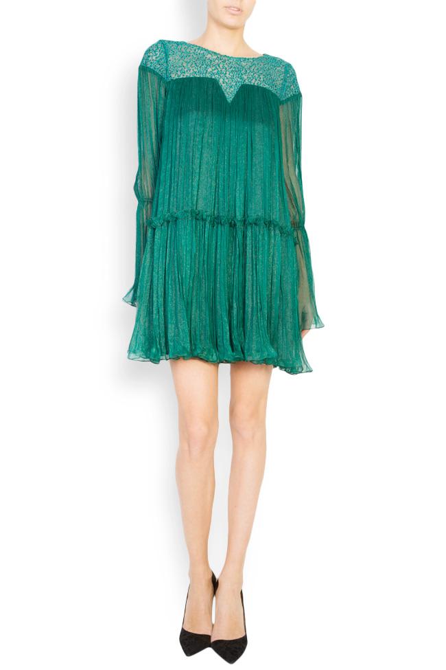 Boema lace-embroidered silk mini dress Maia Ratiu image 0