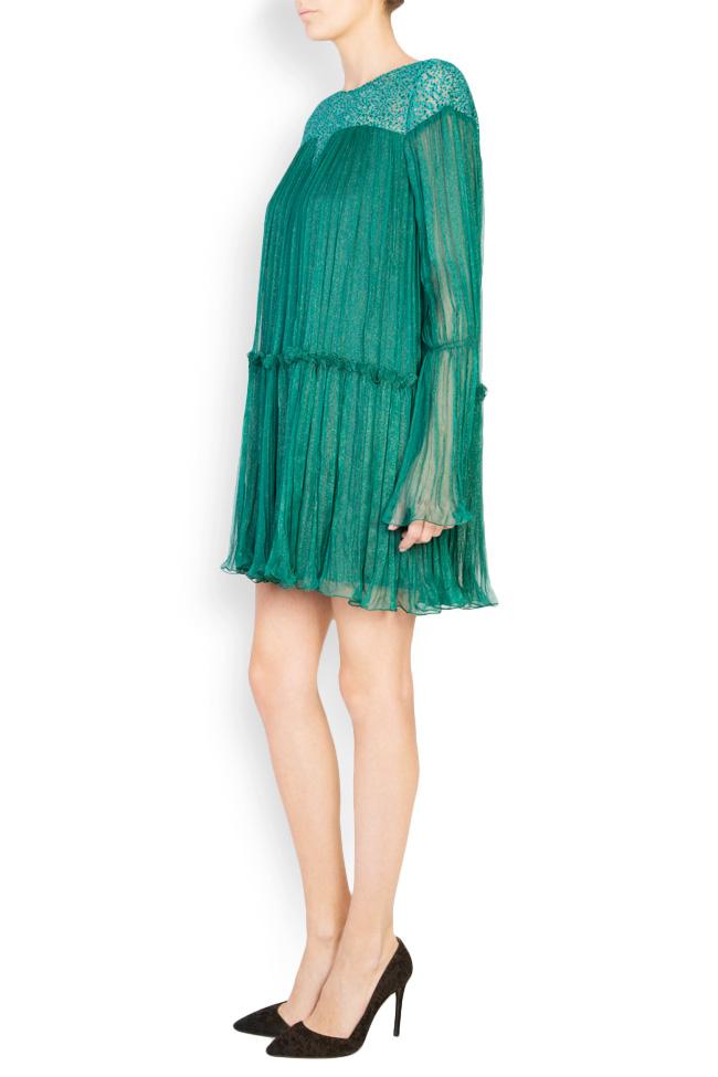 Boema lace-embroidered silk mini dress Maia Ratiu image 1