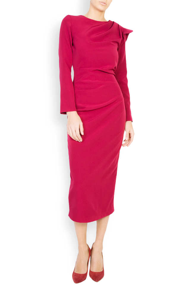 Flavia crepe pencil midi dress  Maia Ratiu image 0