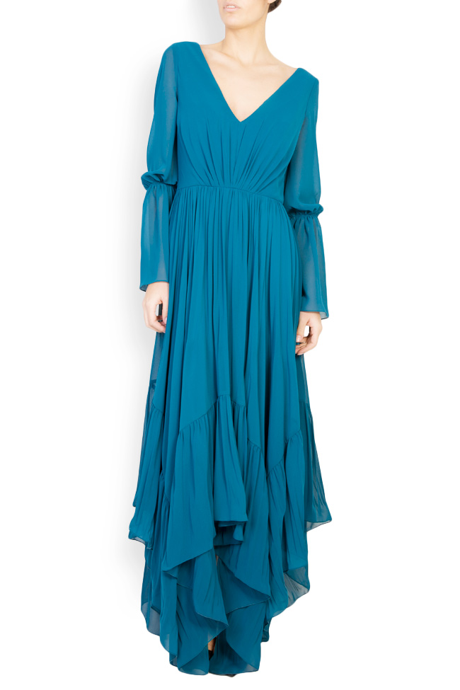 Antonia asymmetric georgette maxi dress Maia Ratiu image 0