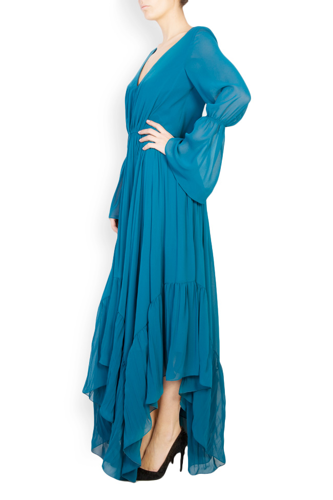 Antonia asymmetric georgette maxi dress Maia Ratiu image 1