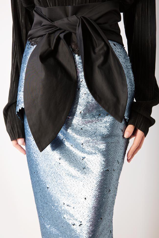 Daring sequined midi skirt DALB by Mihaela Dulgheru image 3