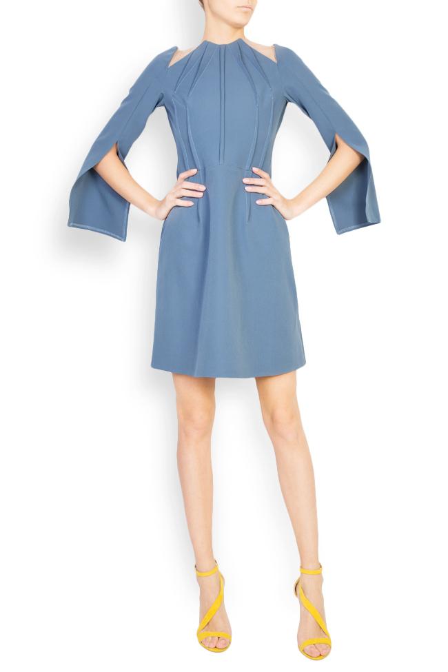 Daria cape-effect crepe mini dress Maia Ratiu image 0