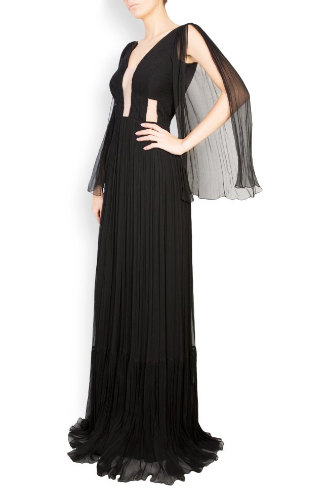 Calipso draped silk-mousseline maxi dress Maia Ratiu image 1