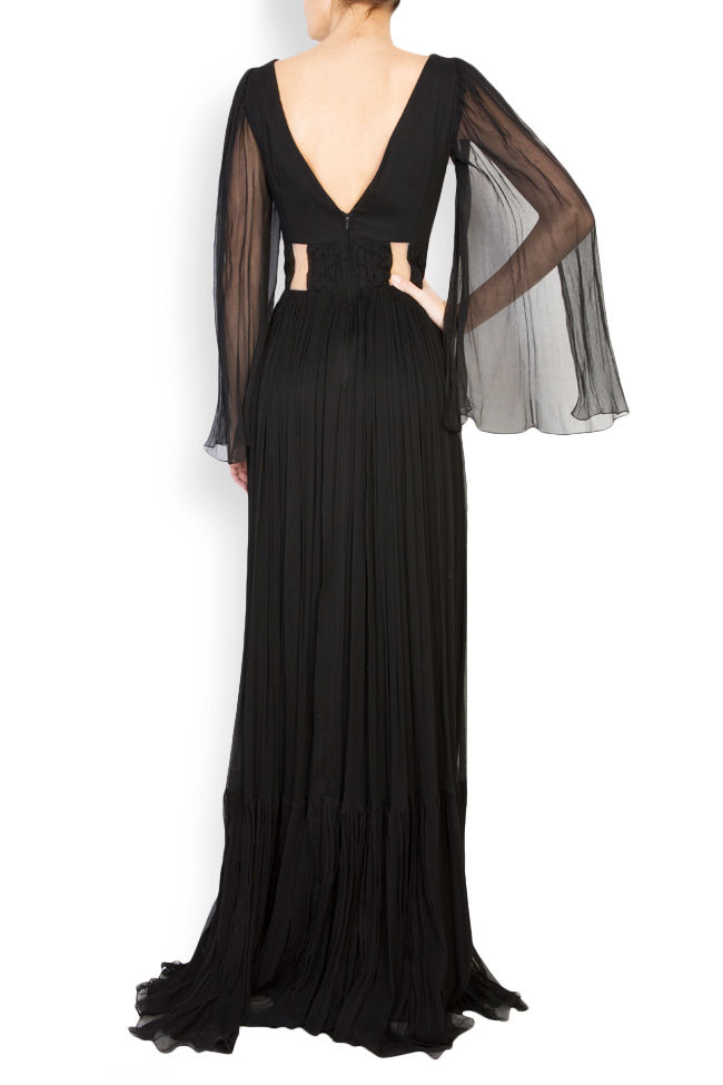 Calipso draped silk-mousseline maxi dress Maia Ratiu image 2
