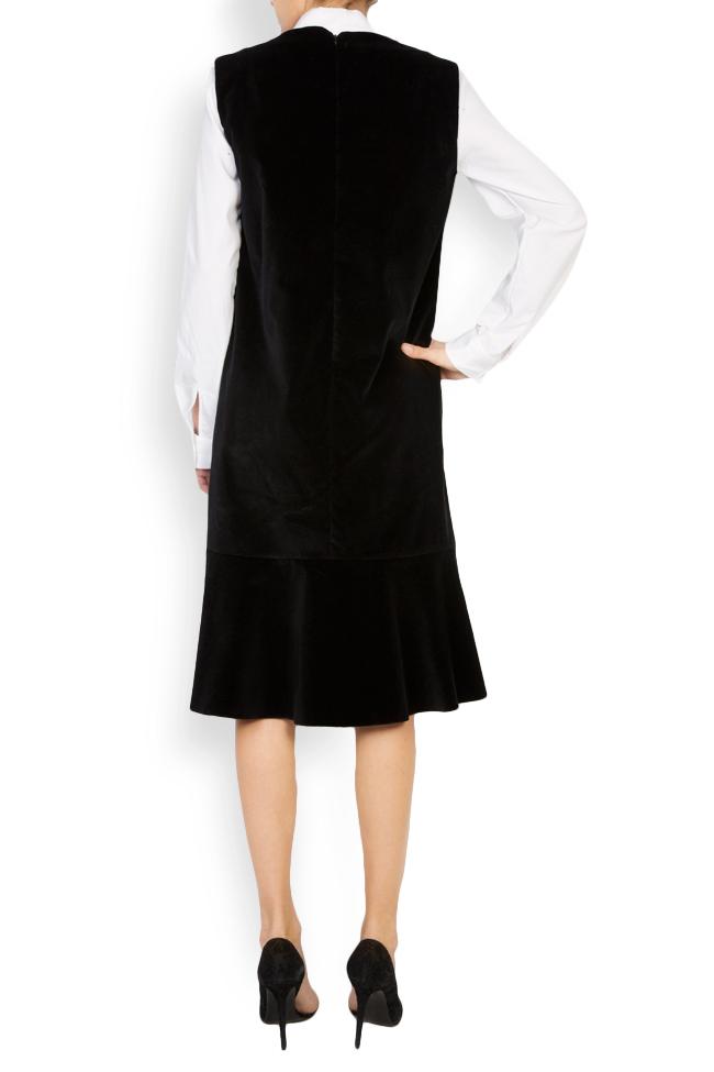 Robe chasuble en velours de coton brodée Maressia image 3