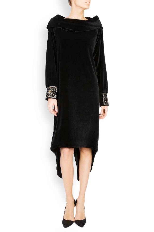 Silk-embroidered velvet dress  Maressia image 0