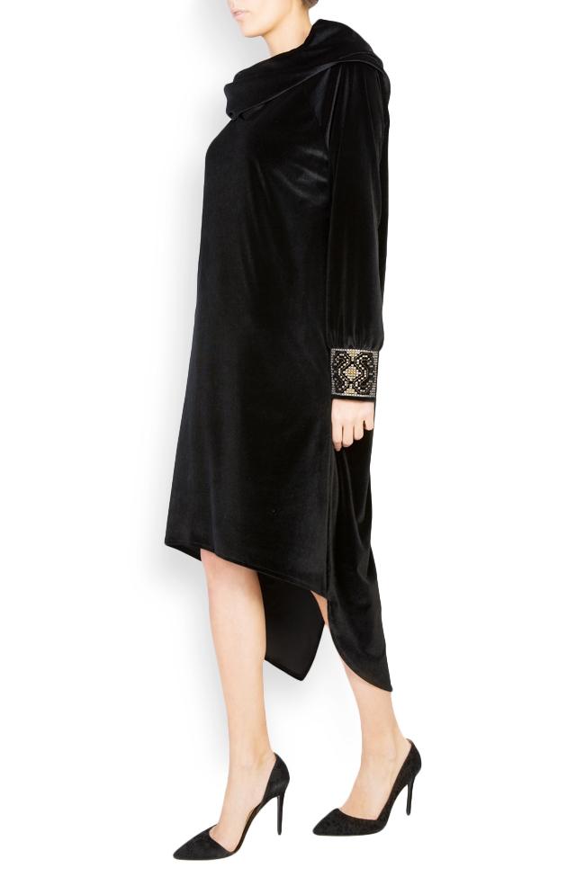 Silk-embroidered velvet dress  Maressia image 1