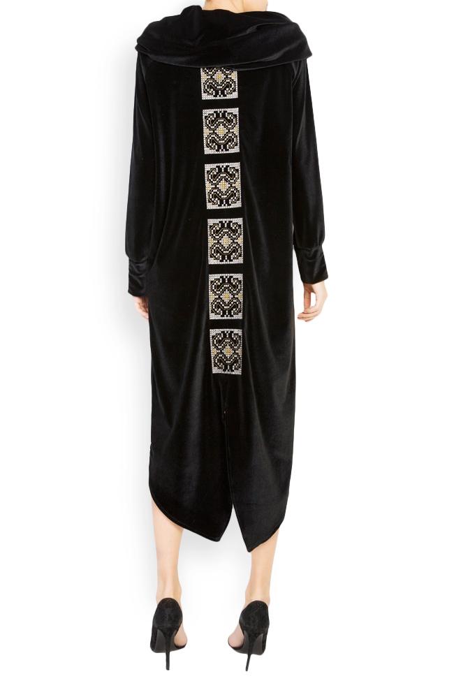 Silk-embroidered velvet dress  Maressia image 2