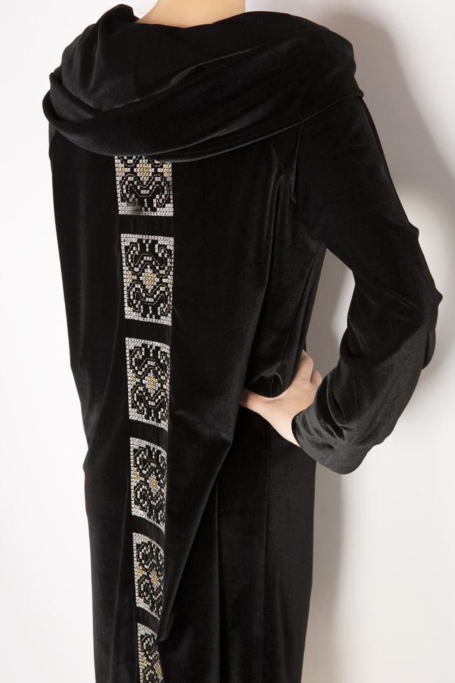 Silk-embroidered velvet dress  Maressia image 3