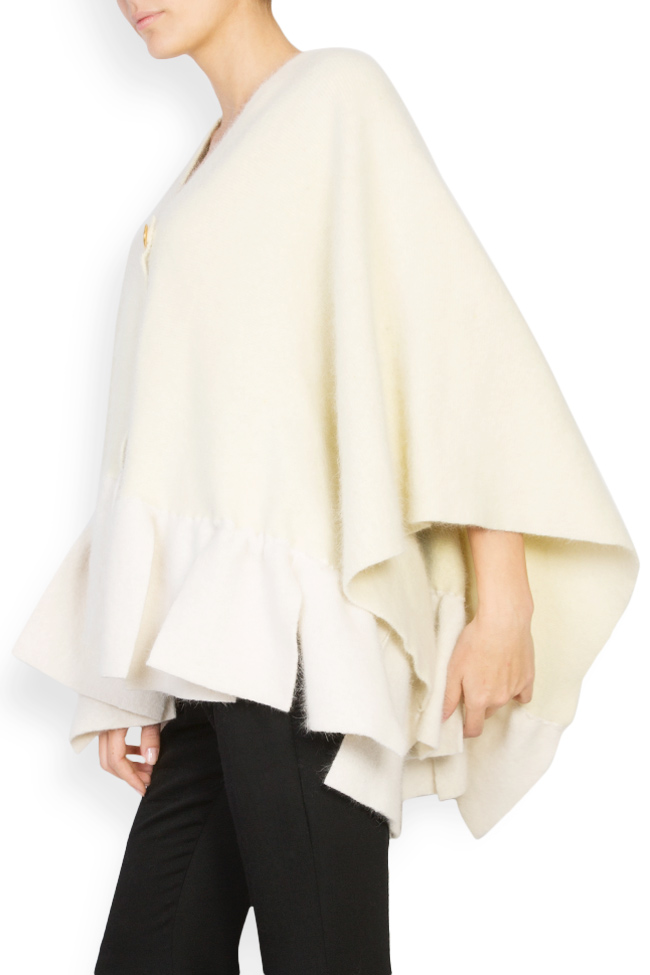 Poncho din lana angora Arona Carelli imagine 1