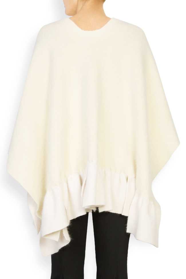 Poncho din lana angora Arona Carelli imagine 2