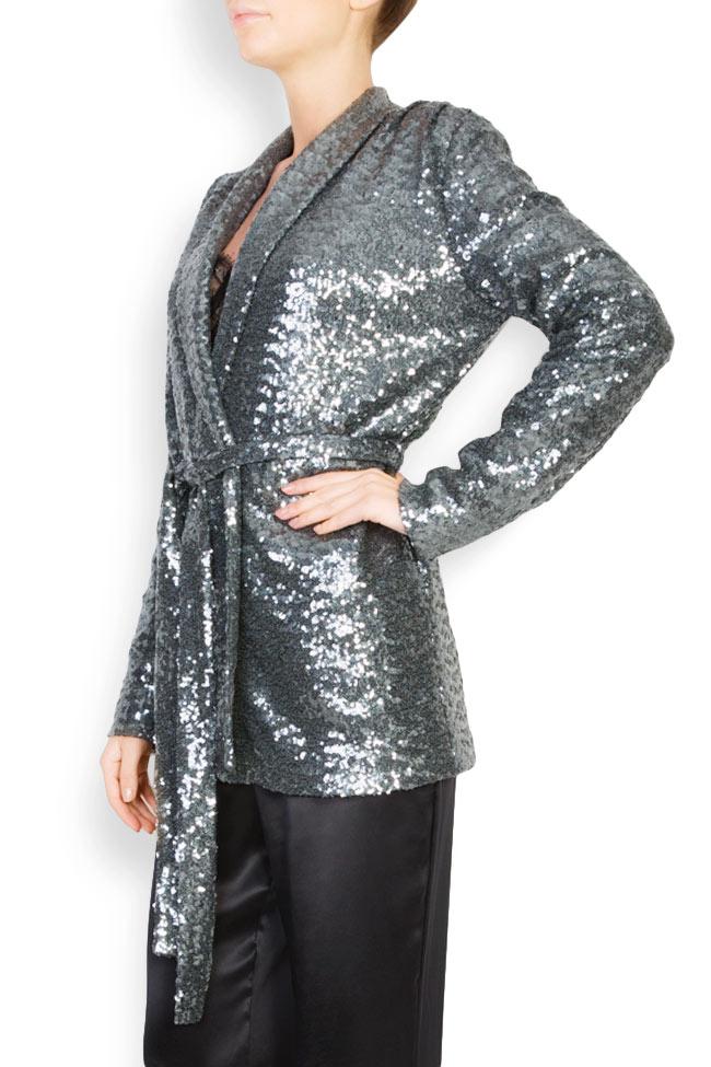 Belted sequined blazer Aureliana image 1