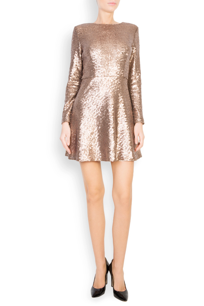 Sequined tulle mini dress Aureliana image 0