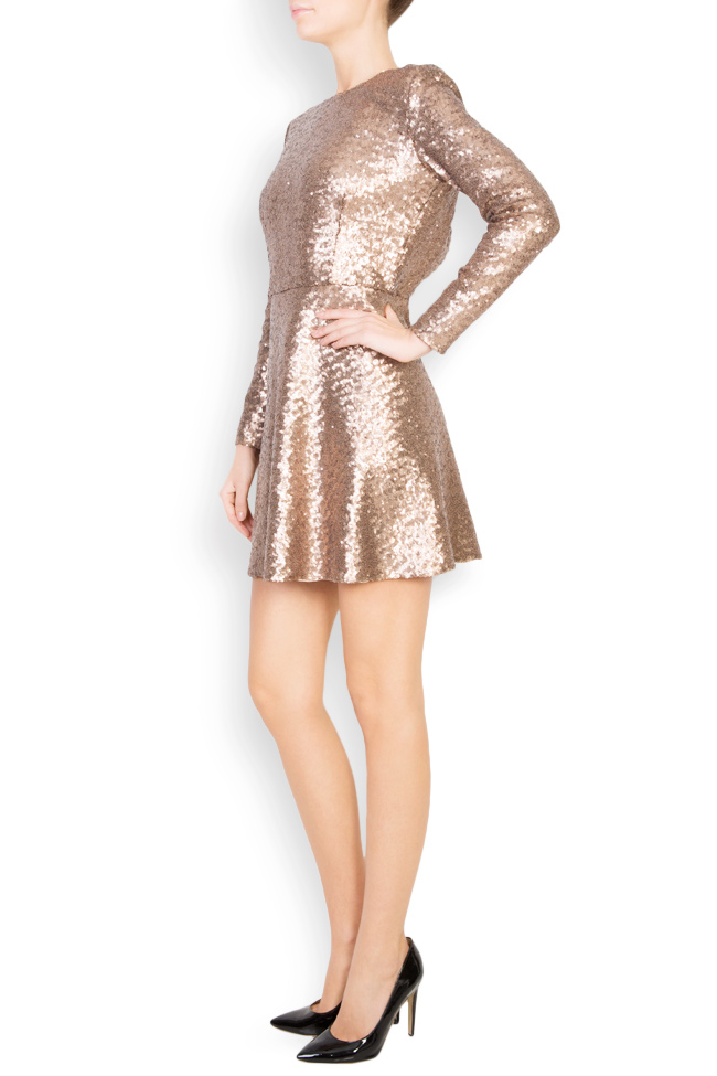 Sequined tulle mini dress Aureliana image 1